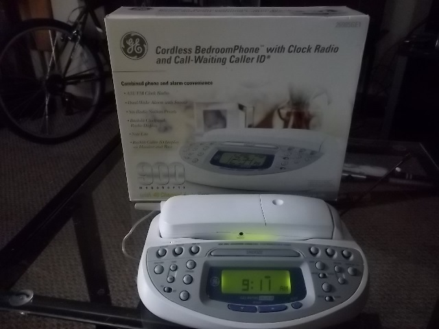 ge 26985ge1 900 mhz cordless bedroom phone alarm clock and radio free