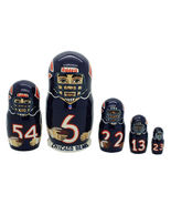 Chicago bears nesting doll matryoshka doll babushka doll 5 pc, 6""