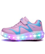 Ehauuo Unisex Roller Shoes Kids Sparkling Wheels Shoes Girls Light up Ro... - $43.60