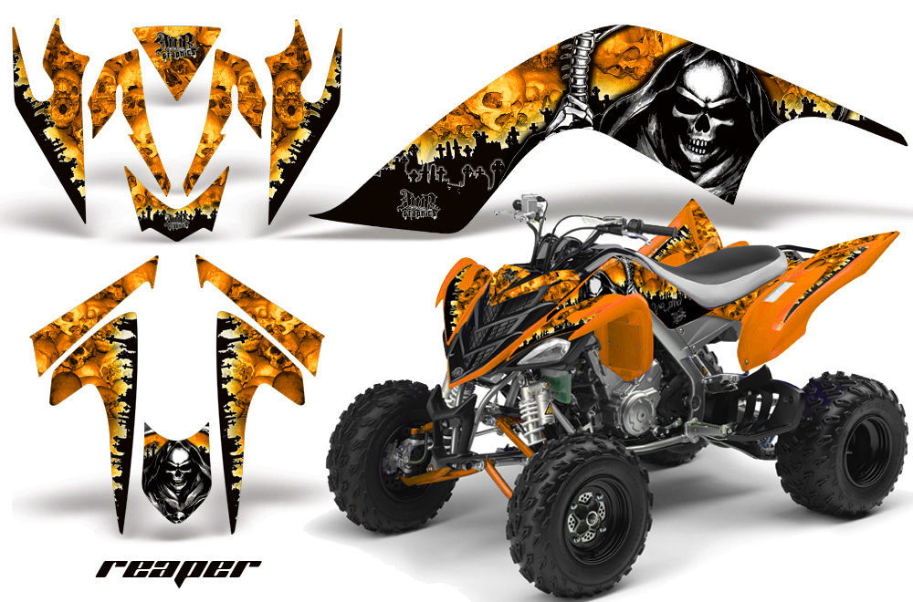 Amr racing graphic wrap off road deco atv sticker kit for Deco 700 raptor