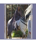 Medieval Gothic Hooded Velvet Cape Cloak 12th Century Clothing 7 Choice ... - $146.95