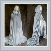 Medieval Gothic Hooded Velvet Cape Cloak 12th Century Clothing 7 Choice Colors image 4