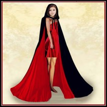 Medieval Gothic Hooded Velvet Cape Cloak 12th Century Clothing 7 Choice Colors image 5