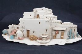 Vintage Burwood Products Pueblo Adobe Hacienda Scene 3291-2B Made in USA... - $14.03