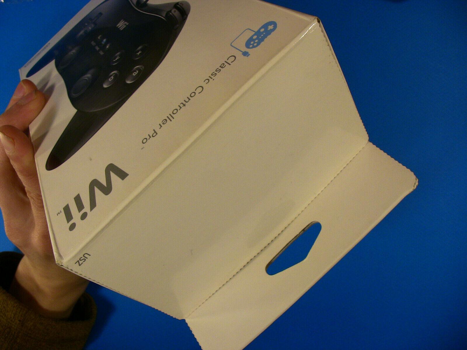 Nintendo Wii Clasic Controller Pro ~ Black, NIB New, Sealed
