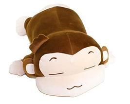 "eZen Creation Fluffy Sleeping Monkey Stuffed Cushion Plush Toy 11.8"""
