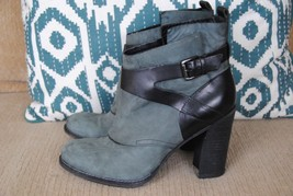 Belle Sigerson Morrison Green Suede Ankle Boot Kitten Heel Size 7.5  - $20.00