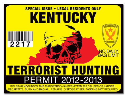 Kentucky terrorist hunting permit tag truck polaris f150 for Kentucky out of state fishing license