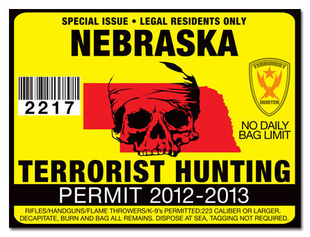 Nebraska terrorist hunting permit tag truck silverado rzr for Nebraska fishing license cost