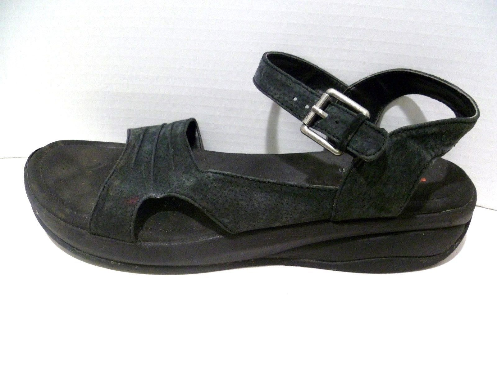 be262ad25a8e Womens 10 Sandals Skechers Black Suede and 50 similar items. 57