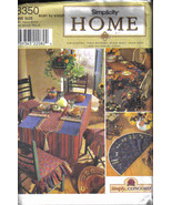 Simplicity 8350 Pattern Dining Room kitchen table chair cover place mat ... - $7.77
