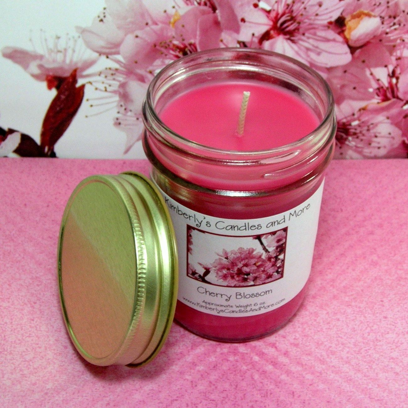 Cherry Blossom  PURE SOY  Jelly Jar Candle