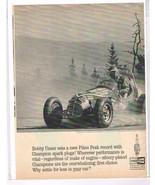 Four Vintage Original Magazine Ads Champion Spark Plugs: Bobby Unser - $1.99