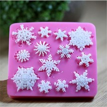 Mold Silicone Shape Snowflake Bakeware For Cake Chocolate Soap Candy  - ₨188.06 INR