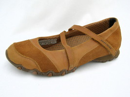 """Skechers Mary Jane's Women's 8M Light Brown Leather & Suede 1¼"""" Heels Good Cond. - $22.52"""
