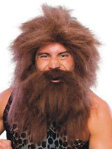 Wig - Pre-Historic - Brown - Adult Caveman Beard & Wig Set - Costume Acc... - $12.07
