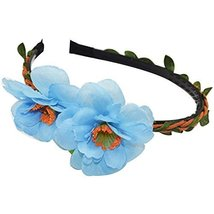 3 Pcs New Style Blue Peach Woven Cloth Hair Bands Headdress