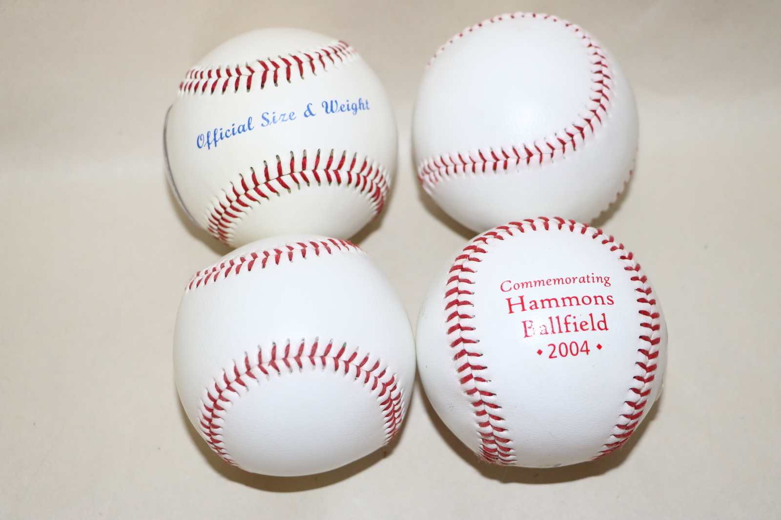 Lot of 4 Baseballs - Mixed Lot - Hammons Commemorative Ballfield 2004