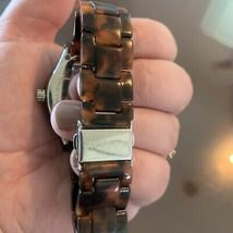 FOSSIL Ladies Brown Tortoise Shell Multifunction Watch NEW BATTERY image 4