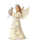 Enesco Jim Shore Heartwood Creek White Woodland Farmhouse Angel and Cat ... - $23.76