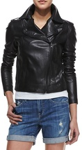 Women Black Leather Jacket, Womens Leather Jackets, Biker Leather Jacket  - $149.99