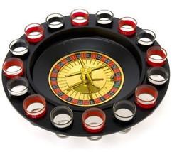 Roulette Wheel Shot Glass Party Drinking Game 16 Glasses Set Game Gambli... - $24.97