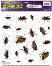 Creepy Bugs HORROR COCKROACHES GRABBER CLING Window Mirror Halloween Dec... - $4.92