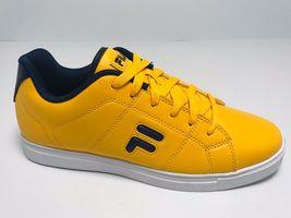 Men's Fila Charleston Yellow | Navy Fashion Sneakers  - $69.00