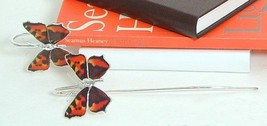 Bookmark - Enameled Tortoiseshell Butterfly - luxury gift for a book reader - $13.60