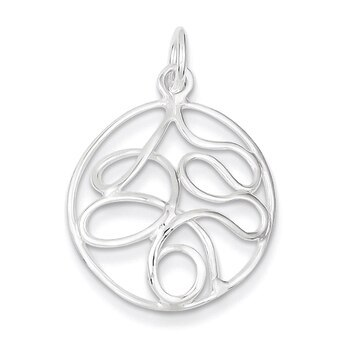 Primary image for Lex & Lu Sterling Silver Round Polished Fancy Pendant