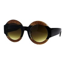 Thick Round Circle Frame Sunglasses Womens Stylish Chic Shades UV 400 - $10.95