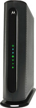 Motorola - Dual-Band AC1900 Router with 16 x 4 DOCSIS 3.0 Cable Modem - Black - $176.12