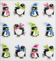 Jolee's Boutique Holiday Penguin Cabochons Stickers, Set of 12 image 2