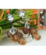 Vintage Dangle Earrings Cluster Crystal Glass B... - $24.95