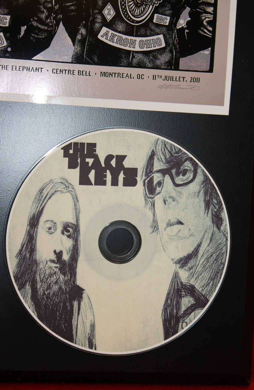 BLACK KEYS LTD EDITION RARE PICTURE CD DISC COLLECTIBLE AWARD QUALITY DISPLAY