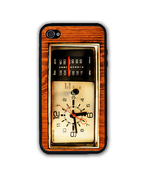 Vintage Wood Old Timer iPhone Case - Rubber Silicone iPhone 4 / 4s Case
