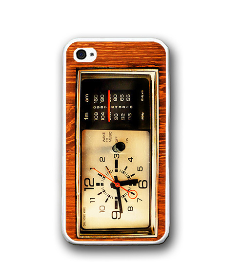 Vintage Wood Old Timer iPhone Case - Rubber Silicone iPhone 4 / 4s Case image 2