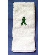 Kidney Cancer Awareness Support Green Ribbon White Hand Face Towel New - $11.73