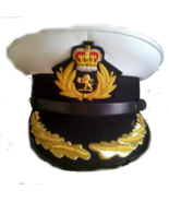 CUNARD QUEEN MARY 2 SHIP CAPTAIN WHITE NEW HAT Sizes, 57, 58, 59, 60, HI... - $116.64