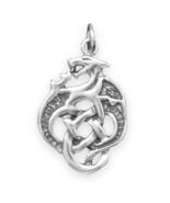 Sterling Silver Celtic Dragon Charm - $24.95