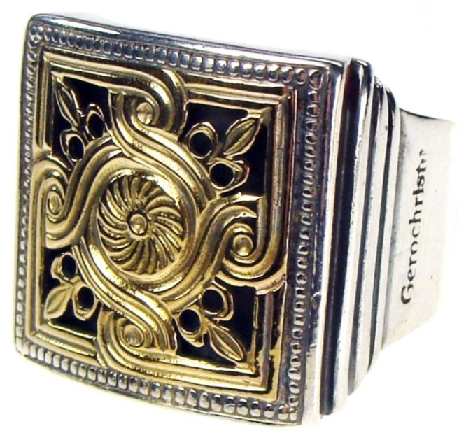 02002236 gerochristo 2236 medieval byzantine silver gold ring 1