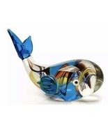 "Dynasty Gallery - Glass Figurine - Rainbow Whale Paperweight 6"" - $42.45"