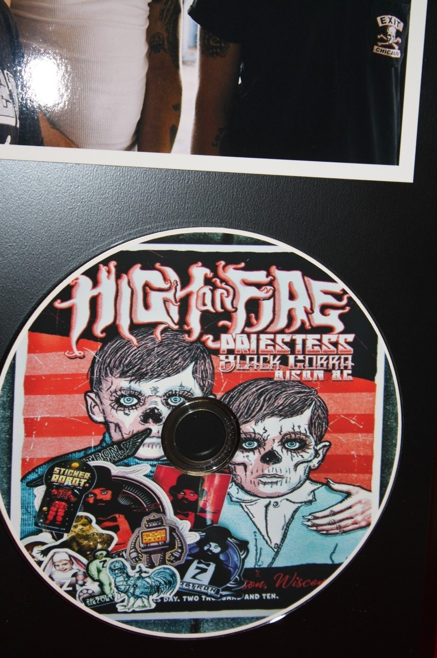 HIGH ON FIRE  LIMITED EDITION PICTURE CD DISC COLLECTIBLE RARE GIFT WALL ART