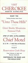 Visit Cherokee, North Carolina Historical Brochure - $5.00