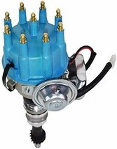 Ford SB R2R Distributor 351W 8.0mm Spark Plug Wires 50K Volt Coil image 2