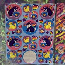 Incredible Incomplete Lisa Frank Sticker Sheets LOT OF 5 Rainbow Tiger Kittens + image 6