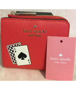 KATE SPADE NWT LUCKY DRAW SMALL NO WINDOW L ZIP BIFOLD WALLET CARD DECK ... - $75.00