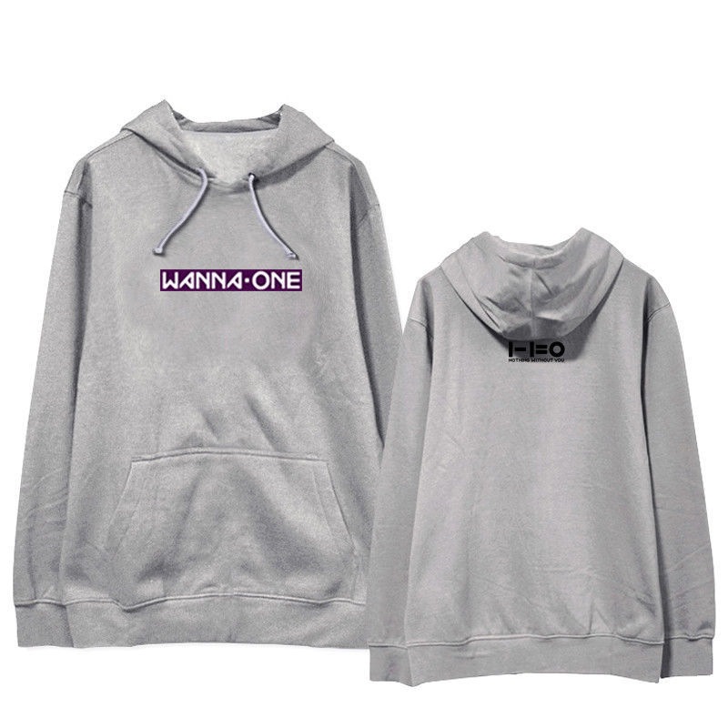 KPOP WANNA ONE Hoodie 1-1=0 Ablum Pullover Nothing without you Letter Sweater