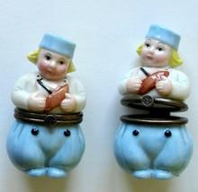 Dutch Boy Dept 56 Porcelain Handpainted Hinged Box New - $17.90