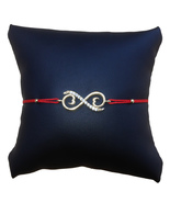 Unending Love String Bracelet, Red Cord and Gold Plated - $12.99